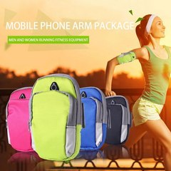 Sports mobile phone arm bag men and women running equipment arm set wrist bag (rose Red) 4-6 inch universal