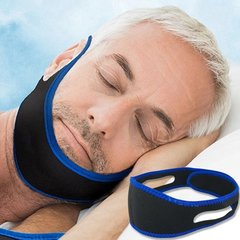 Men and women with snoring / snoring tape / tow chin (dark blue)
