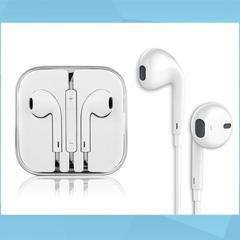 Universal Android Apple bass in-ear headphones line control with wheat mobile phone headset (white)
