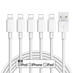 iPhone Charger, Lightning Cable,USB Charging Compatible with iPhone X 6 7 8 Plus and More (white) 1 (m)