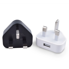 Smartphone USB charging head 5V1A mobile phone adapter Triangle British standard charger (white) One size