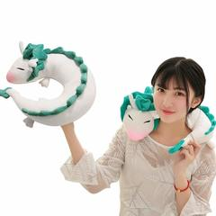 Cute U-shaped Pillow - Soft Small White Dragon Cartoon Anime Neck Pillow Plush Toy