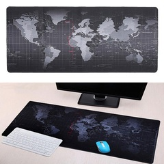 World map mouse pad, Gaming Mouse Mat Extended & Extra Large Mouse Pad black 30*60*0.2cm (260G)