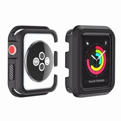 Shockproof Soft Silicone Full Protection Frame Watch Cover Case for Apple Watch 3 2 1 38mm 42mm (pattern 1) 38mm