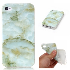 iPhone 4 4g 4s Case Marble,[Ultra-Thin] Flexible Soft TPU Gel Silicone Cove Case (A) For iPhone 4 4g 4s