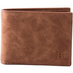 Men's wallet coin bag wallet (brown) one size