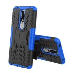 Nokia 3.1 Plus Case,Full Body Protective and Resilient Shock Absorption and Kickstand Design (blue) for Nokia 3.1 Plus