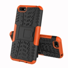 Huawei Y5 2018 Case, 2in1 TPU+PC Combo Rugged Heavy Duty Hybrid Armor Shockproof Case Cover (orange) For Huawei Y5 2018