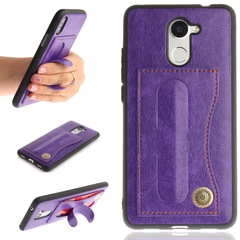 Huawei Y7 Case, Huawei Y7 Prime Case,PU Case Wallet Cover with Stand and 1 Card Slots (purple) For Huawei Y7 /Y7 Prime
