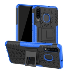 Samsung Galaxy A50 A30 Case,Shockproof with Kickstand TPU+PC Dual Layer Protective Stand Case Cover (blue) For Galaxy A50 A30