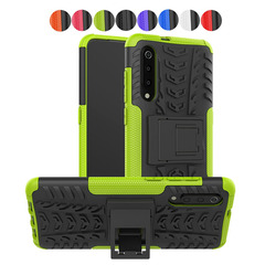 Xiaomi Mi 9 Case Smartphone Stand Durable Detachable Shockproof 2 in 1 Soft Silicone TPU+PC Cover (green) For Xiaomi Mi 9