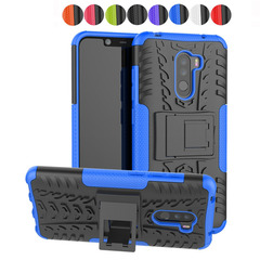 Xiaomi Mi F1 Case,Dual Layer 2 in 1 Rugged Heavy Impact Resistant Hard Back Kickstand Case Cover (blue) For Xiaomi Mi F1