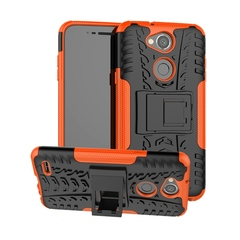 LG XPower 3 Case,Durable Armor Full Body Protective Resilient Shock Absorption Kickstand Design (orange) For one plus two