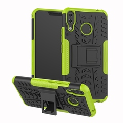 Asus Zenfone 5z ZS620KL Case,Shockproof 2 in 1 Hybrid Rugged Hard PC Soft TPU Case Cover (green) For Asus Zenfone 5z ZS620KL