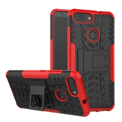 Asus Zenfone Max Plus Case,Shockproof 2 in 1 Hybrid Rugged Hard PC Soft TPU Case Cover (red) For Asus Zenfone Max Plus