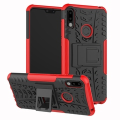 Asus Zenfone Max Pro M2 ZB631KL Case,Rugged Heavy Duty Armor Hard Back Cover Case (red) For Zenfone Max Pro M2 ZB631KL