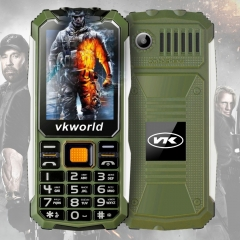 VKWorld Stone V3S 2.4 inch Daily Waterproof Dropproof Dustproof Mobile Phone Dual LED Light Dual Army green