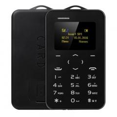 AIEK C6 1.0 inch Card Phone Russian Keyboard GSM Bluetooth 2.0 Calendar Alarm black
