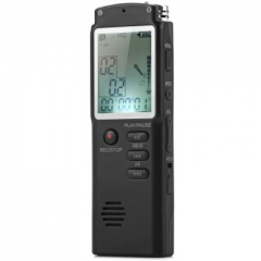 T60 High Fidelity 8GB LCD Time Display Digital Voice Recorder MP3 Player black