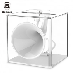 Baseus Amplify Sound Charge Dock 8 Pin Phone Stand Speaker white normal