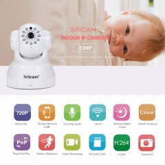 Sricam SP012 Wireless IP Camera 720P Wifi Pan / Tilt Surveillance IPcam P2P Baby Monitor