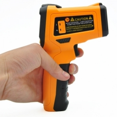 PEAKMETER PM6530C Non-contact Digital Infrared Thermometer Colorful Backlight Display K-type Probe as picture one size