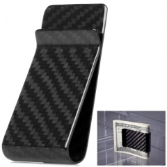 Premium Carbon Fiber Money Clip - Glossy Finish as picture one size