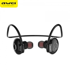 Awei A845BL Bluetooth V4.1 Noise Reduction Neckband Stereo Earphones black