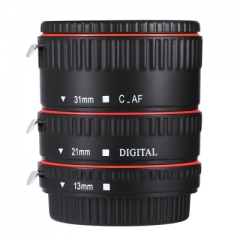 WEIHE 13MM 21MM 31MM Auto Focus Macro Extension Tube for Canon EF EF - S Lens black one size