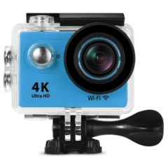 H9 Ultra HD 4K WiFi 2 inch LCD Screen 170 Degree Wide Angle Sports Action Camera blue us plug
