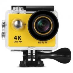 H9 Ultra HD 4K WiFi 2 inch LCD Screen 170 Degree Wide Angle Sports Action Camera yellow eu plug