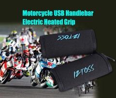 IZTOSS Pair of Motorcycle USB Electric Heated Grip Handlebar Warming Sleeve