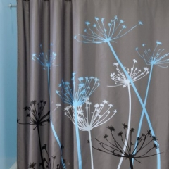 3D Waterproof Polyester Shower Curtain Dandelion Pattern with 12 Plastic Hooks AS PICTURE ONE SIZE