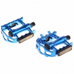 Paired Aluminum Alloy Flat Bicycle Pedal for Mountain Road Bike BMX Fixed Gear blue one size