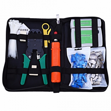 Network Computer Maintenance Tool Kit Cable Tester Crimper 50 Rj45 Cat5 Cat5e Connector Plug
