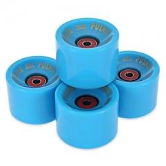 4pcs 70 x 51MM Outdoor Sport Skateboarding Wheel Skate Bearing blue one size