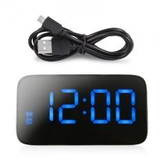 JUNJIADA LED Digital Alarm Clock Voice Control Time Display
