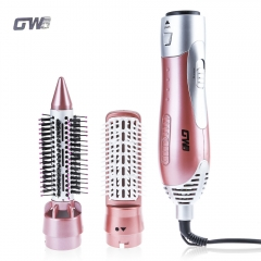 GUOWEI Professional Hair Dryer Machine Comb 2 in 1 Multifunctional Styling Tools Set Hairdryer as picture eu plug