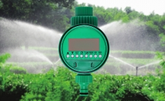 Electronic Garden Water Timer Solenoid Valve Irrigation Sprinkler Control green one size
