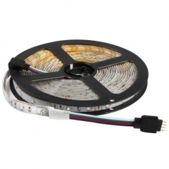 5M 12V 3528 SMD 300 LEDs Waterproof IP65 Flexible RGB Light LED Strip Lamp with 24 Key Remote as picture one size one size