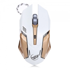 Warwolf T1 3200DPI 6D Optical Wired Macro Definition Programming Gaming Mouse Colorful Light white one size