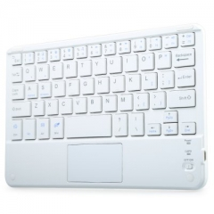 Ultra Flat Thin Rechargeable Bluetooth 3.0 Keyboard for iPad  iPhone  Samsung  HTC  Tablet PC white one size