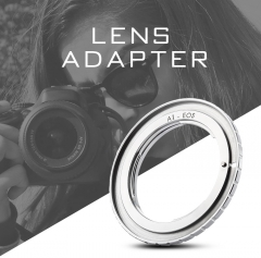 Electric Aperture Lens Adapter for Nikon Lens to Canon Camera silver one size