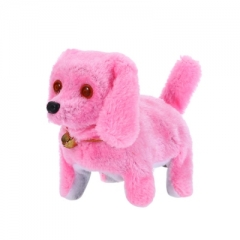 Electronic Walking Barking Dog Doll Toy with Flash Light Eye Birthday Christmas Gift for Baby as picture one size
