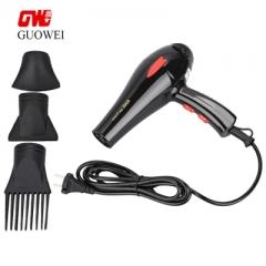 Guowei GW - 3900 Portable Powerful Electric Traveller Compact Hair Dryer black eu plug