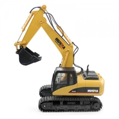 HUINA 1550 1:14 2.4GHz 15CH RC Alloy Excavator RTR with Independent Arms Programming Auto as picture one size