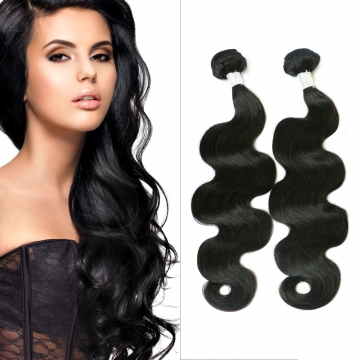 100%human hair weave body wave Brazilian Peruvian virgin hair 1pcs 100g/pc 10- 30inch nature black black 10