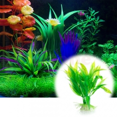 Artificial Plastic Water Plant bamboo leaf Decoration Ornament For Aquarium one color one size