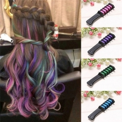 Popular Semi Permanent Hair Color Chalk Powder With Comb Hair Mascara Purple one size