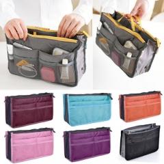 Travel Insert Organizer Handbag Purse Large Liner Women Makeup Organizer Bag Black one size